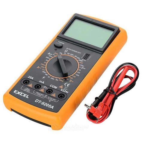 Multitester Digital Excel Dt9205a excel dt9205a 3 quot lcd digital multimeter black orange