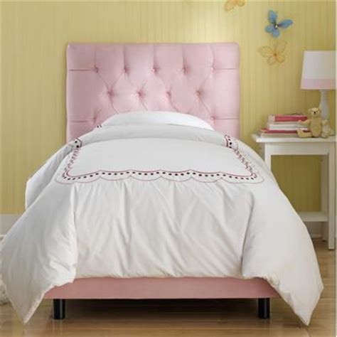 pink tufted bed skyline furniture tufted micro suede youth bed in light