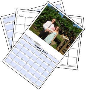 photo calendar templates  add  picture
