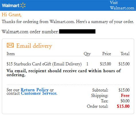 Subway E Gift Cards - walmart starbucks egift card email