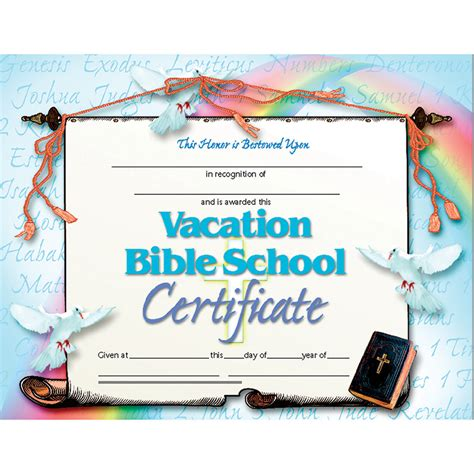 vbs certificate template product hva542 vacation bible school set of 30