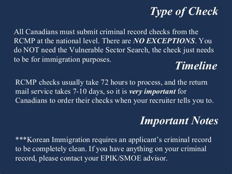 Types Of Criminal Record Checks Canada Canada Criminal Record Check Teaching In South Korea