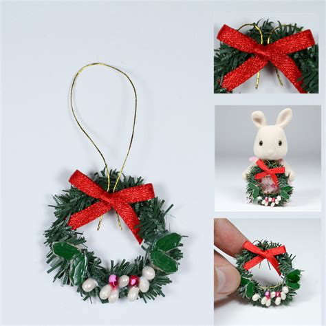 odoria 1 12 miniature christmas decoration green wreath