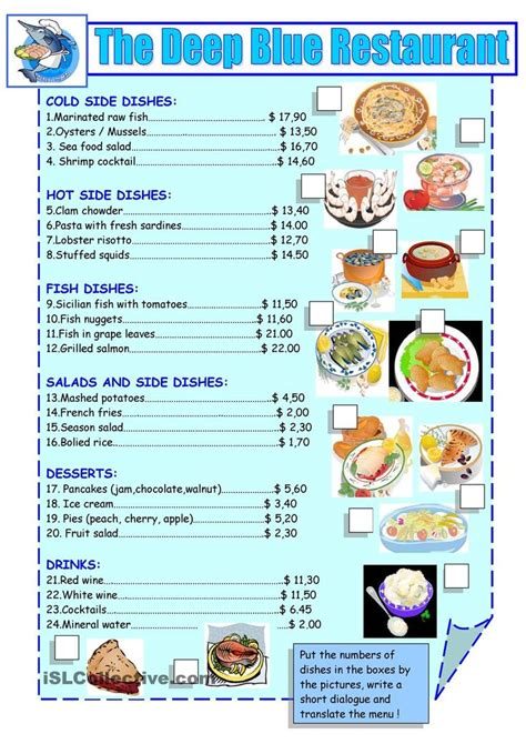 Printable Restaurant Menu Google Search For The Classroom Pinterest Restaurant Student Menu Template For Class