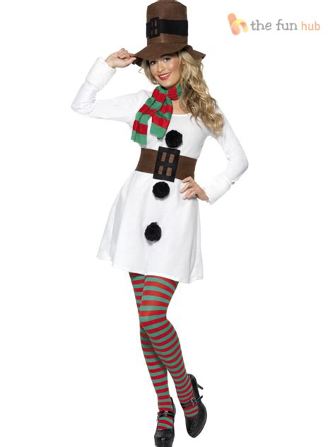 christmas costume ideas for adults miss snowman costume white santa fancy dress hat ebay