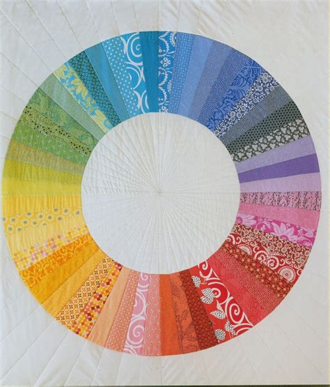Last Minute Patchwork And Quilted Gifts - purl s color wheel quilt the quilt are