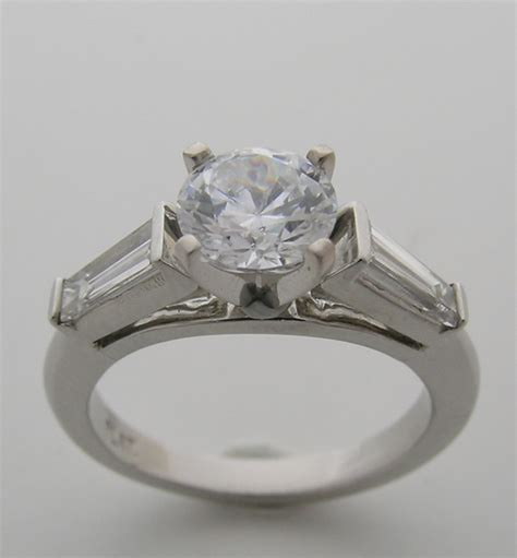 Engagement Ring Settings by Baguette Solitaire Engagement Ring Setting