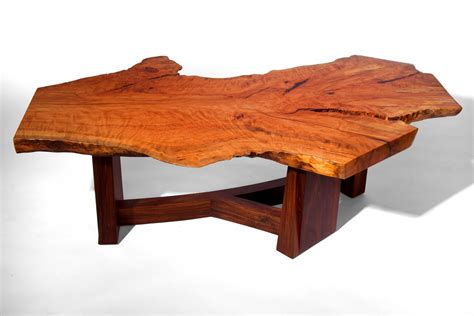 Slab Coffee Table Made Live Edge Beech Slab Coffee Table By J Holtz Furniture Custommade
