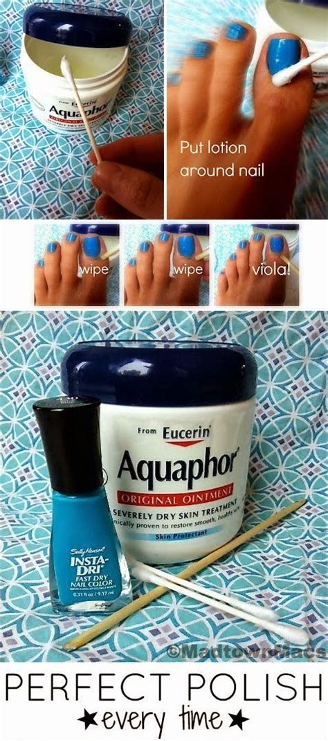 Apply aquaphor or vaseline to cuticles to protect your skin from