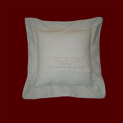 Monogrammed Baby Pillows Muslin Keepsake Personalized Baby Pillow Christening