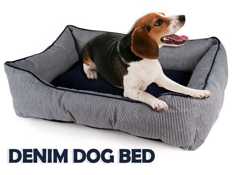 denim dog bed durable denim dog bed comfortable lounger l crazy