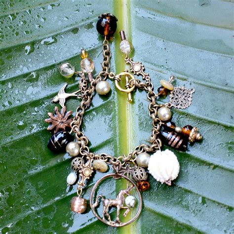Auction Package No. 137. Victorian inspired Handcrafted Charm Bracelet by Andrea Hubert   Castle