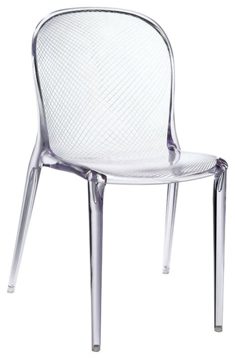 acrylic dining room chairs scape dining side chair in clear modern dining chairs