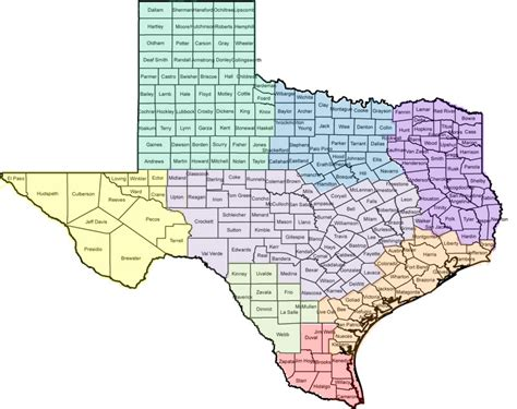 texas map with counties texas county map