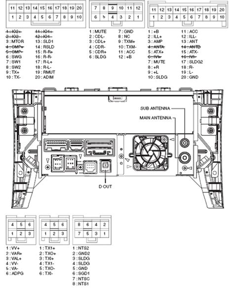 pioneer car stereo 16 pin wiring diagram circuit and