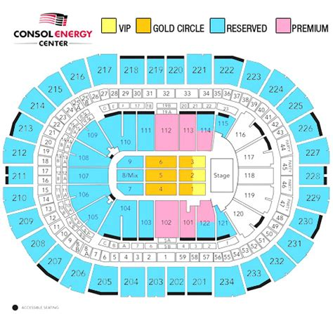 consol energy seating chart consol energy center seating charts view car interior design