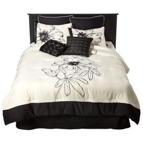 floral 8 piece bedding set black white target mobile