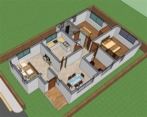 3d ground floor plan house floor plan 4004 house designs small house