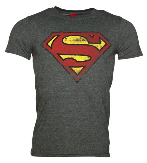 Logo The Mens T Shirt by S Charcoal Distressed Superman Logo T Shirt