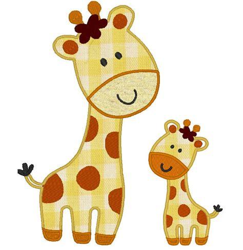giraffe applique animal giraffe machine embroidery applique