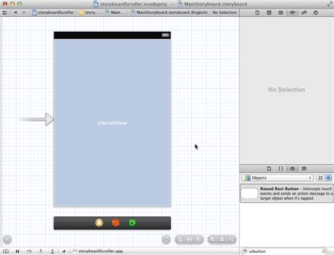 xcode uiscrollview tutorial storyboard ios how to add objects to a uiscrollview that extend