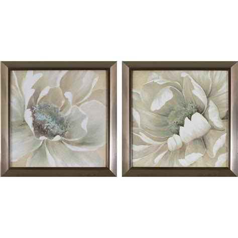 home depot wall decor decor therapy 14 in x 14 in antiqued white flowers