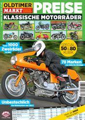 Oldtimer Motorrad Preise 2018 by Oldtimer Markt Shop