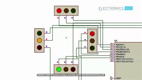home light timer system density based traffic signal system microcontroller