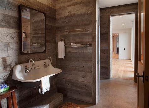 country style bathroom wall cabinets barn board wainscoting design ideas