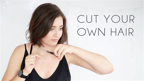 how to cut your own hair in v shape layers how to cut your own hair blunt bob youtube