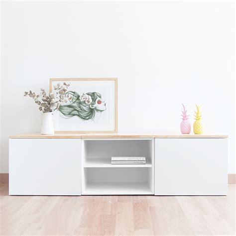 mueble blanco mueble tv blanco de estilo n 243 rdico muebles tv estudiodeco