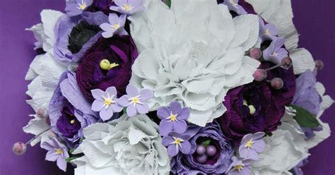 lavender paper flower tutorial purple and lavender bridal bouquet dahlia ranunculus