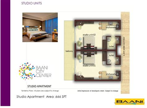 service apartment layout plan baani city center sector 63 gurgaon shop project