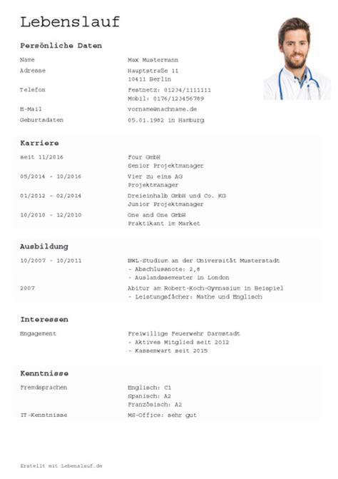 Lucke Im Lebenslauf Nach Abitur lebenslauf vorlagen muster kostenloser als pdf