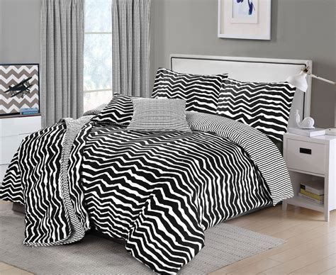 Zebra Stripe Bedding Set Nimsay Home Black White Zebra Stripe Reversible Duvet Cover Bedding Set Ebay
