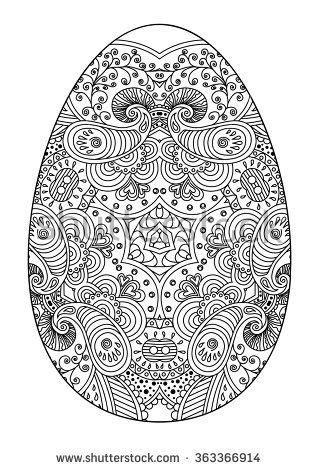 zentangle decorative easter egg coloring easter eggs