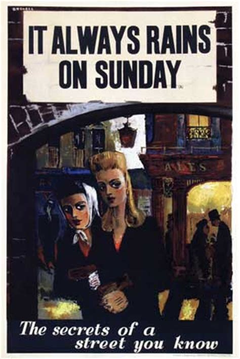 film it always rains on sunday van sabben poster auctions poster browser