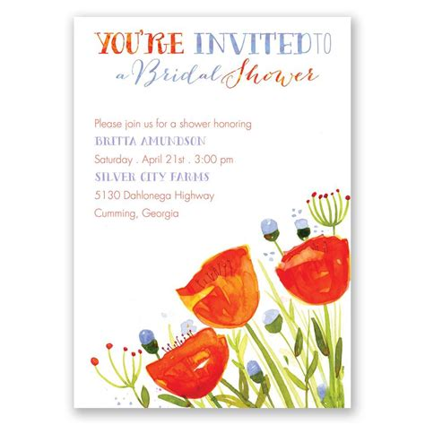 Wedding Posies by Posies And Polka Dots Bridal Shower Invitation