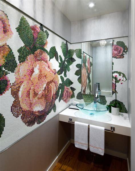 flower design tiles 17 floral bathroom tile designs ideas design trends