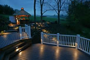 Patio Deck Lights Backyard Deck With Gazebo Outdoor Dining Set Outstanding Backyard Lights Design