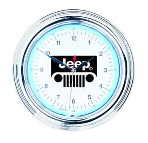stuff autotecnica neon wall clocks jeep 12 neon clock