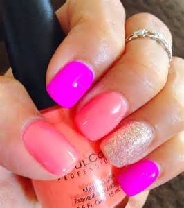 multi colored nails nails