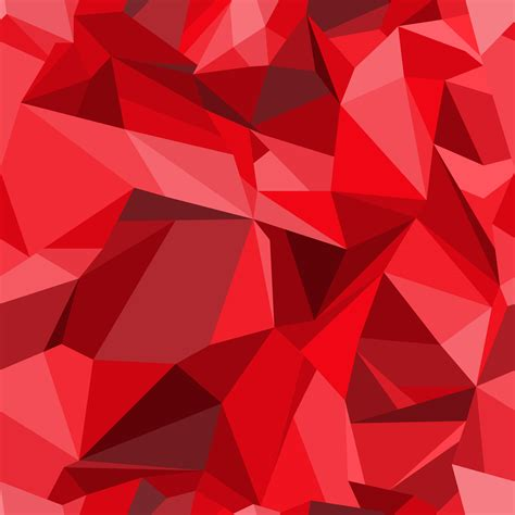 red color pattern design polygon background seamless pattern in modern style of