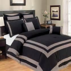 harbor black gray oversize king 8 comforter set ebay