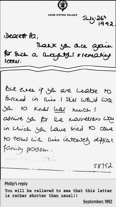 Revealed: Diana's letters to Duke of Edinburgh reveal her