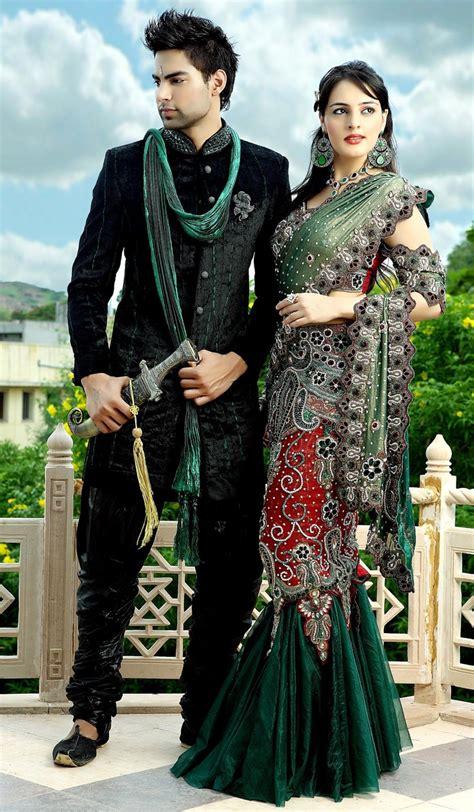 Couples Matching Clothes India Ethnic Rajashahi Wedding Sherwanis Churidar And Matching