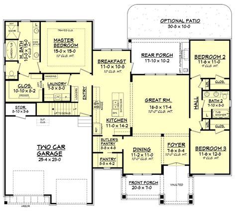 large gourmet kitchen floor plans 171 floor plans craftsman style house plan 3 beds 2 baths 2073 sq ft