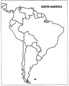 physical map of south america blank cratercomets school of business