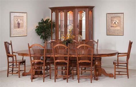 amish dining room tables solid wood tables