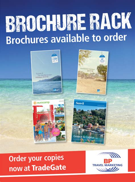 brochure rack bp travel marketing